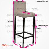 Efes Bar Sandalyesi Ölçüleri