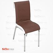 Nesrin Metal Sandalye Kahverengi Beyaz