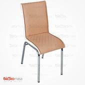 Nesrin Metal Sandalye Krem Beyaz