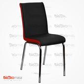 Siyah Kırmızı Nesrin Metal Sandalye