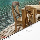 Altay Teak Sandalye Yakın Çekim