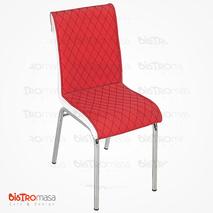 Nesrin Metal Sandalye Kırmızı Beyaz