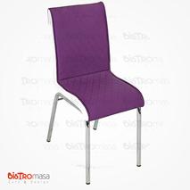 Nesrin Metal Sandalye Mor Beyaz