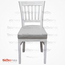 Pupa Ahşap Sandalye Beyaz Renk