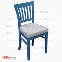 Pupa Ahşap Sandalye Mavi Renk