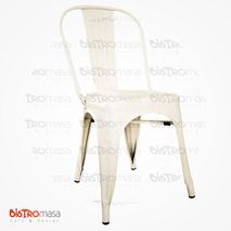 Tolix Sandalye Kolsuz Beyaz Renk