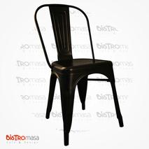 Tolix Sandalye Kolsuz Siyah Renk