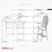 Eftalya Mutfak Masa Sandalye Ölçüleri