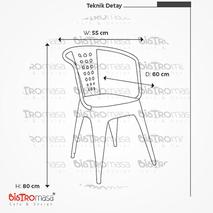 Tolix Rattan Kollu Sandalye Ölçüleri