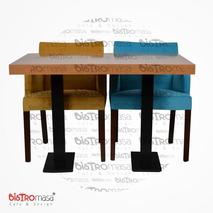Zet Cafe Masa Sandalye Ön Görünüm