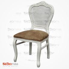 Antik Ahşap Sandalye Beyaz Renk