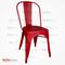 Tolix Sandalye Kırmızı Renk
